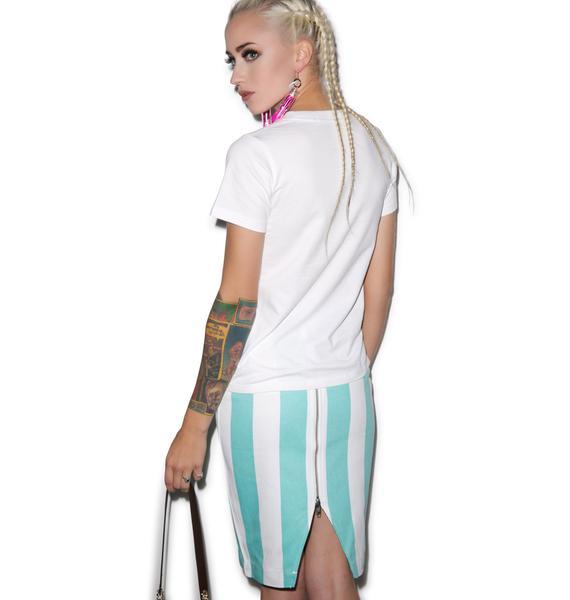 Joyrich Bold Lane Front Zip Skirt