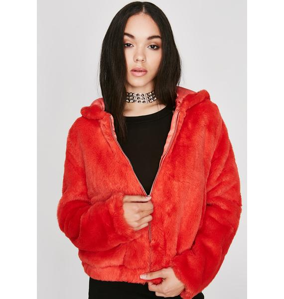 Fire Feel Me Up Furry Jacket