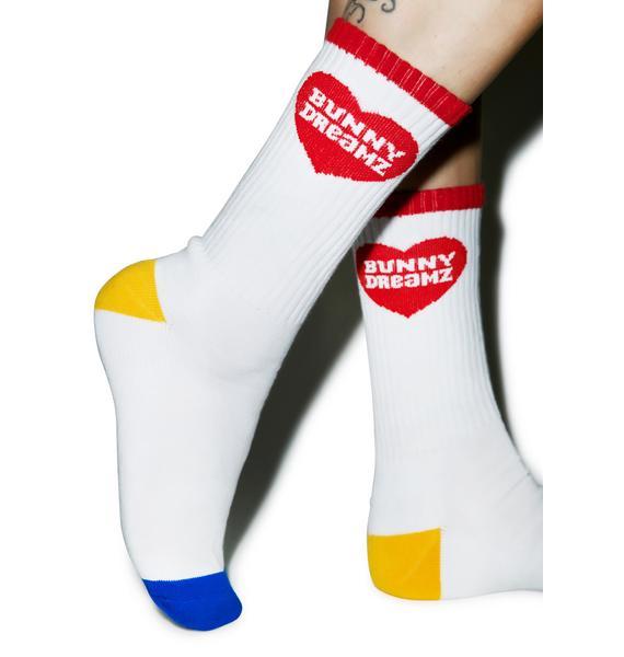 Bunny Dreamz Heart Socks