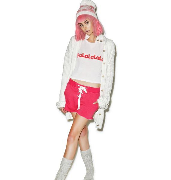 Wildfox Couture Mod Magenta Football Shorts