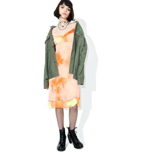 Vintage 90s Tie Dye Slip Dress