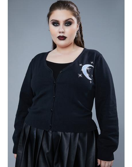 True Moon Mistress Embroidered Cardigan