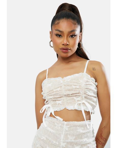 Euphoric Fairy Lace Crop Top