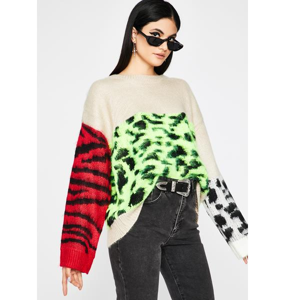 Color Me Kitty Chunky Sweater