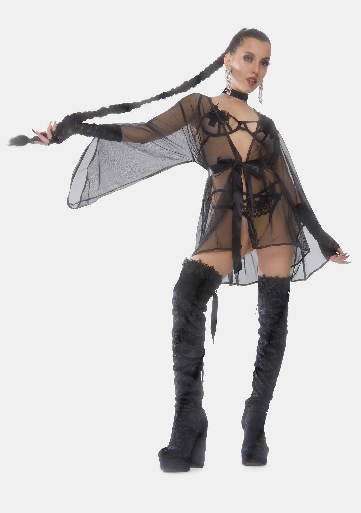 Oh la la Cheri Sydney Sheer Short Robe