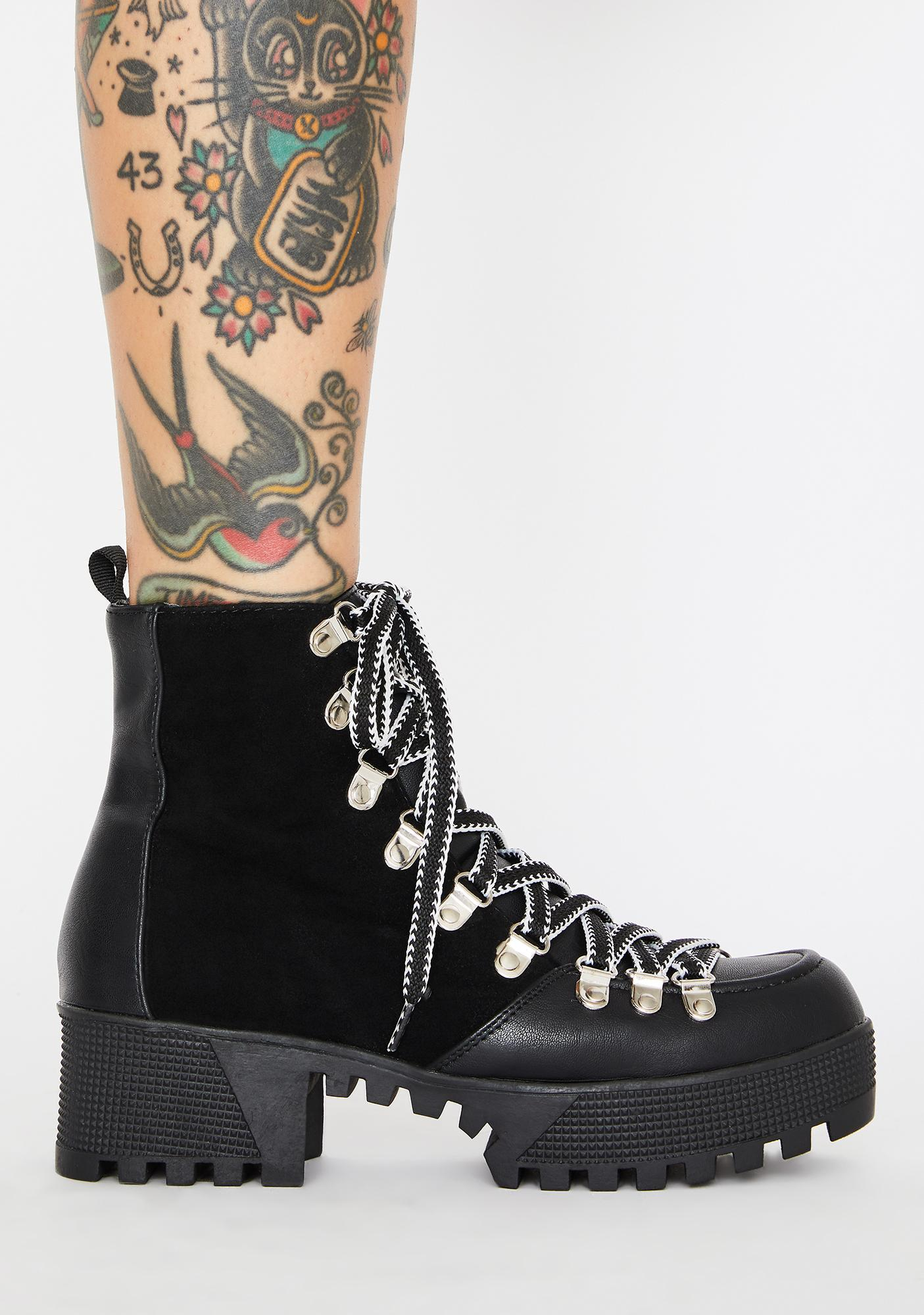 Too Tough Lace Up Booties