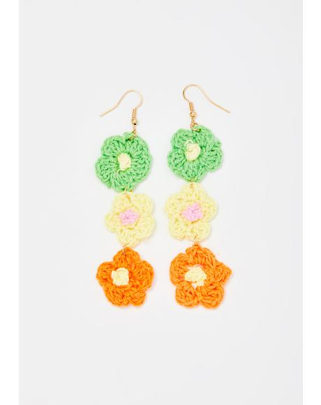 Hippie Love Crochet Earrings