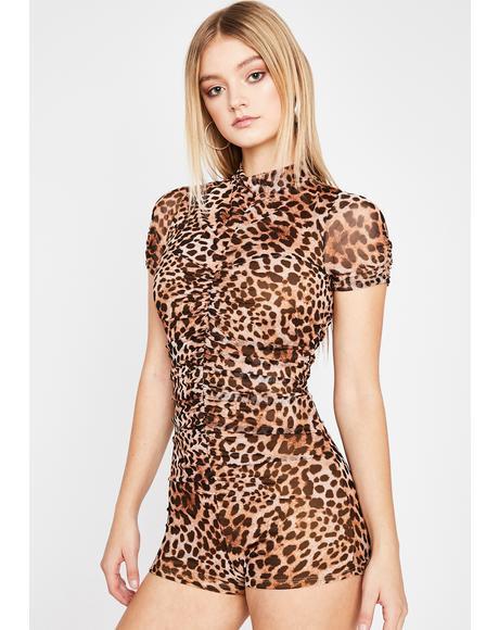 Won't Let Go Leopard Romper
