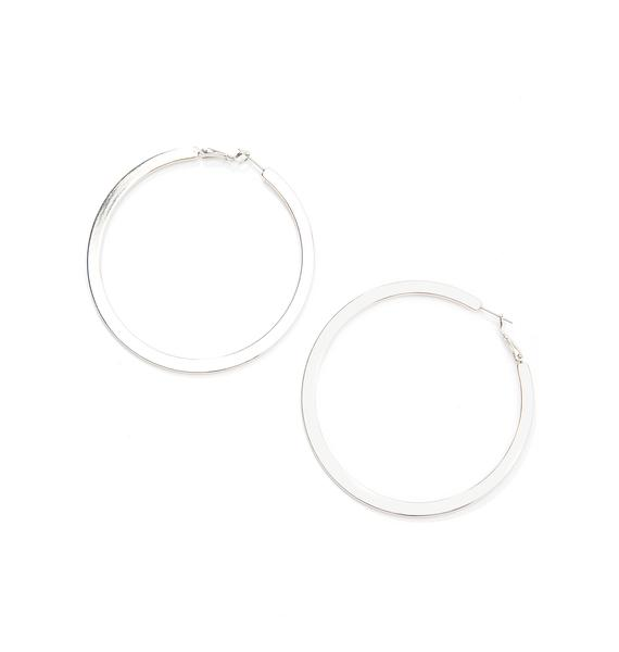 World Go 'Round Hoop Earrings