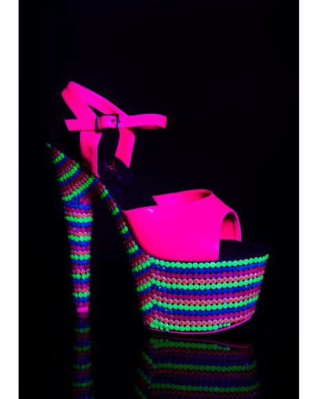 Fairy Freaky UV Platform Heels