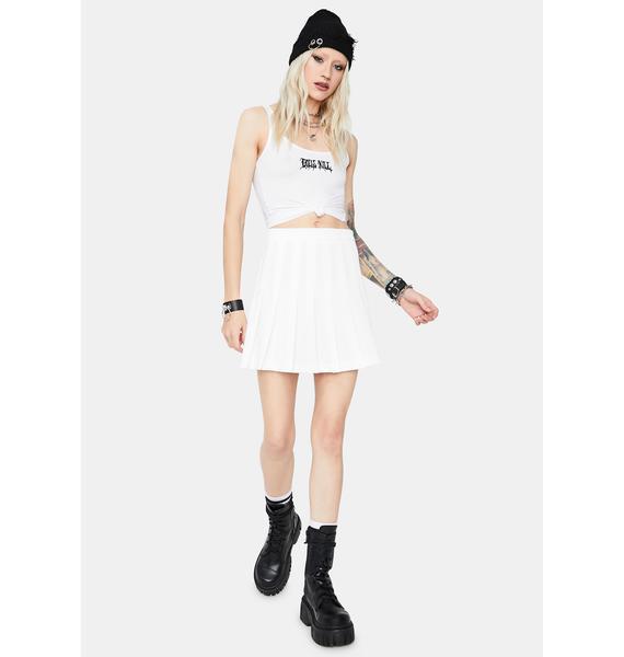Mine Is Finer Pleated Mini Skirt
