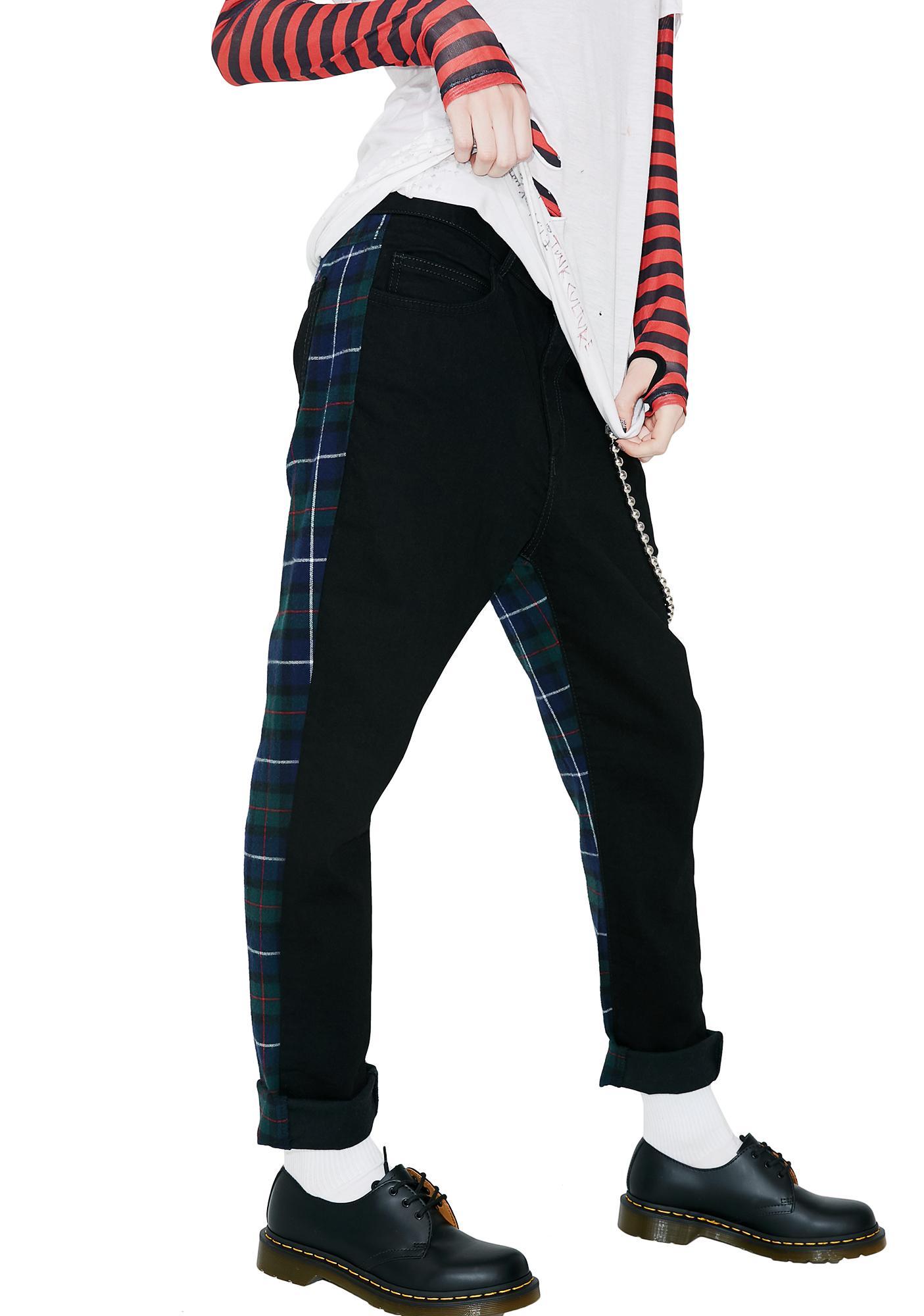 Happiness Denim Tartan Pants