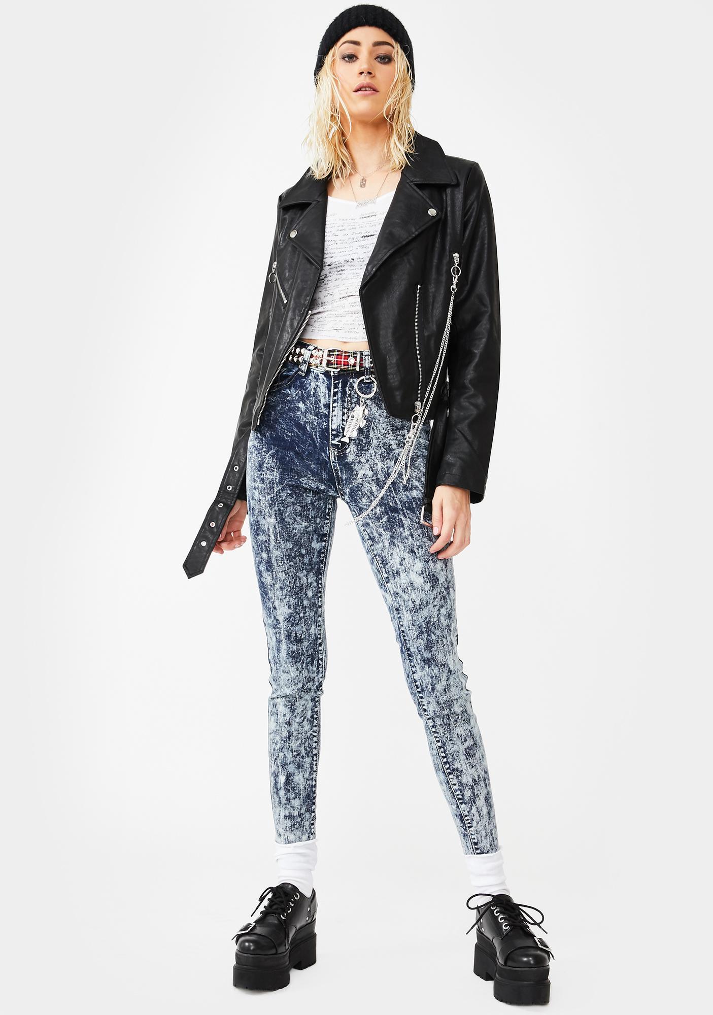 Glamorous Acid Snow Wash Skinny Jeans