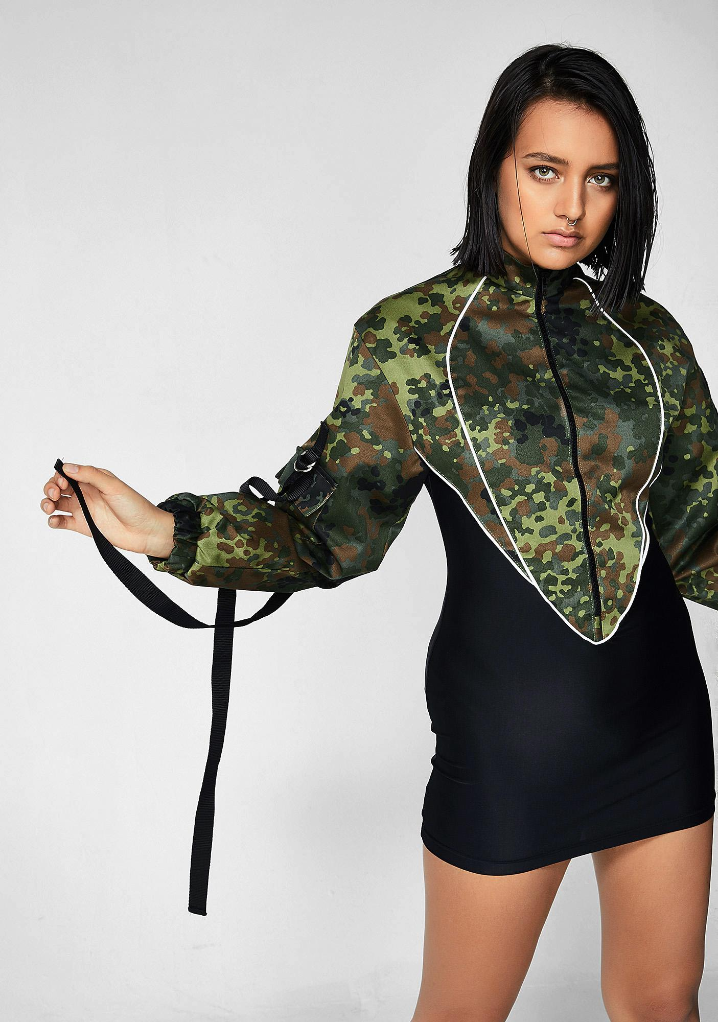 Namilia Camo Jacket Stretch Dress