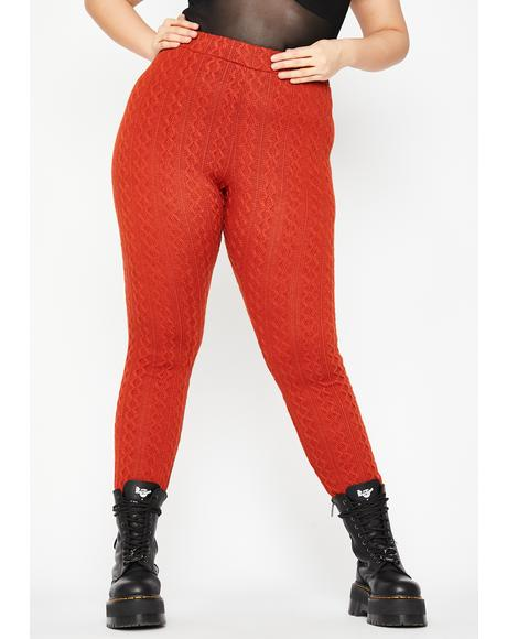 Lux By The Fireside Knit Leggings