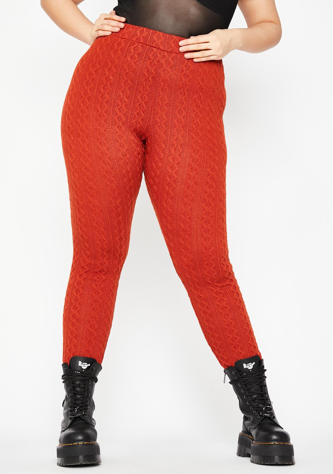 Lux By The Fireside Knit Leggings
