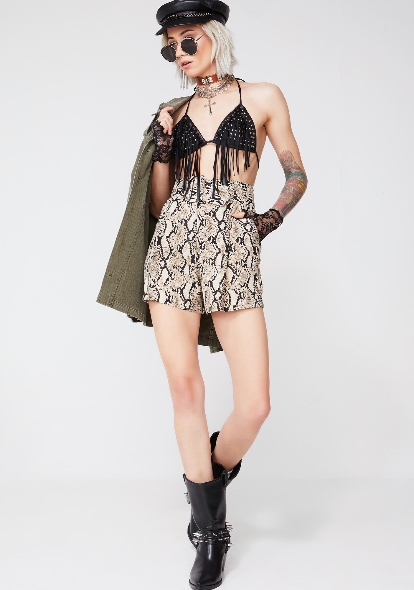 Toxic Tripster Snakeskin Shorts