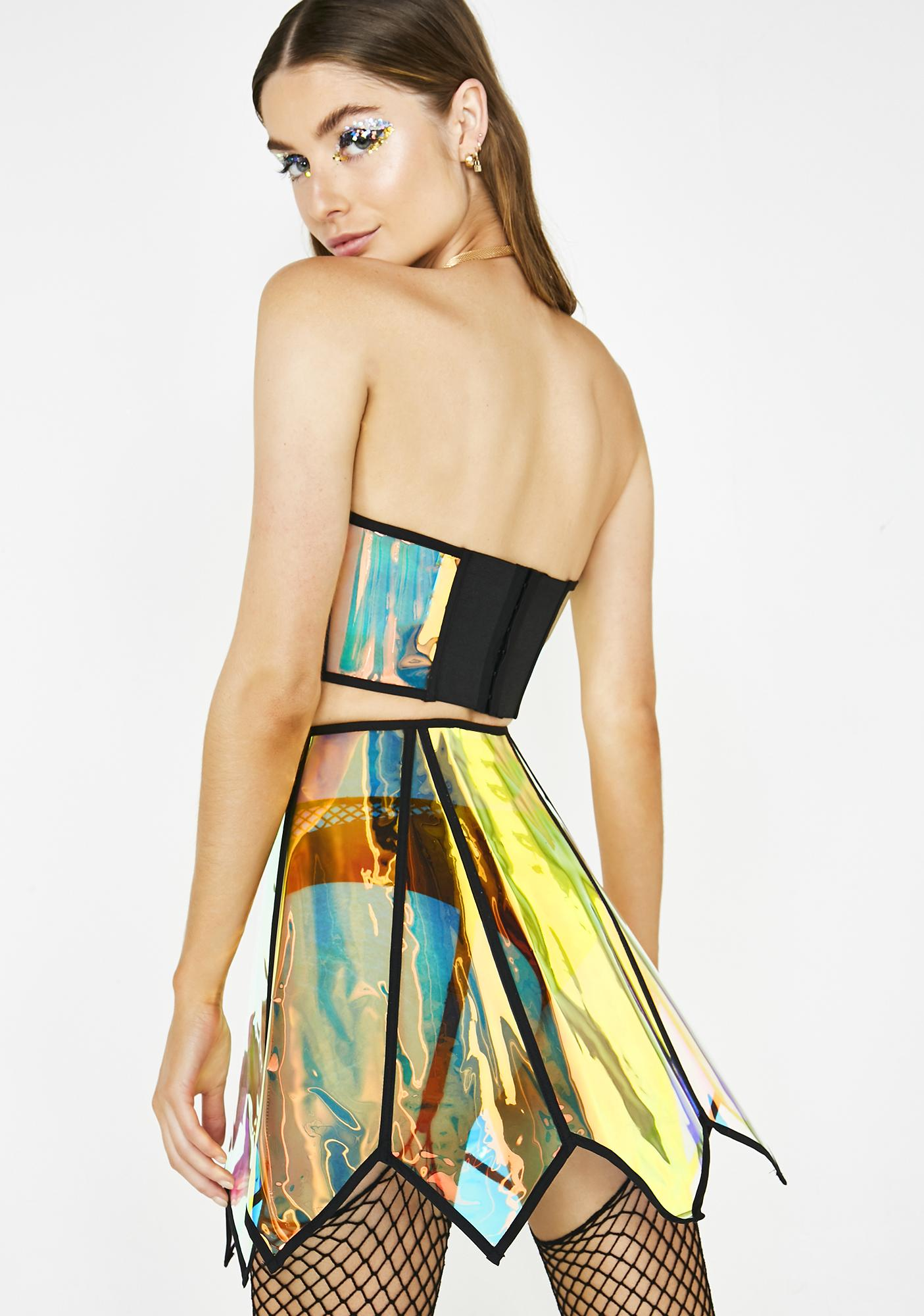 Club Exx Sunset Crusader Holographic Skirt