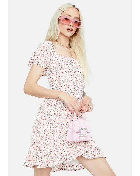 Sweet Dreams Floral Puff Sleeve Mini Dress
