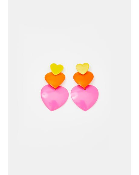 Sweet Luv Heart Earrings