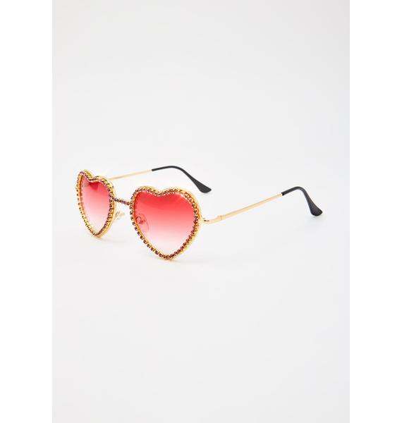 Lit Buy My Love Rhinestone Sunglasses