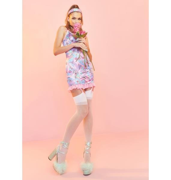 Sugar Thrillz Blooming With Love Slip Dress