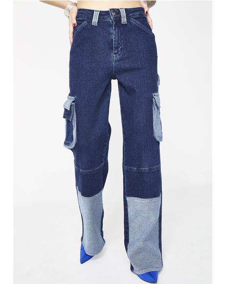 Wide Leg Cargo Jeans