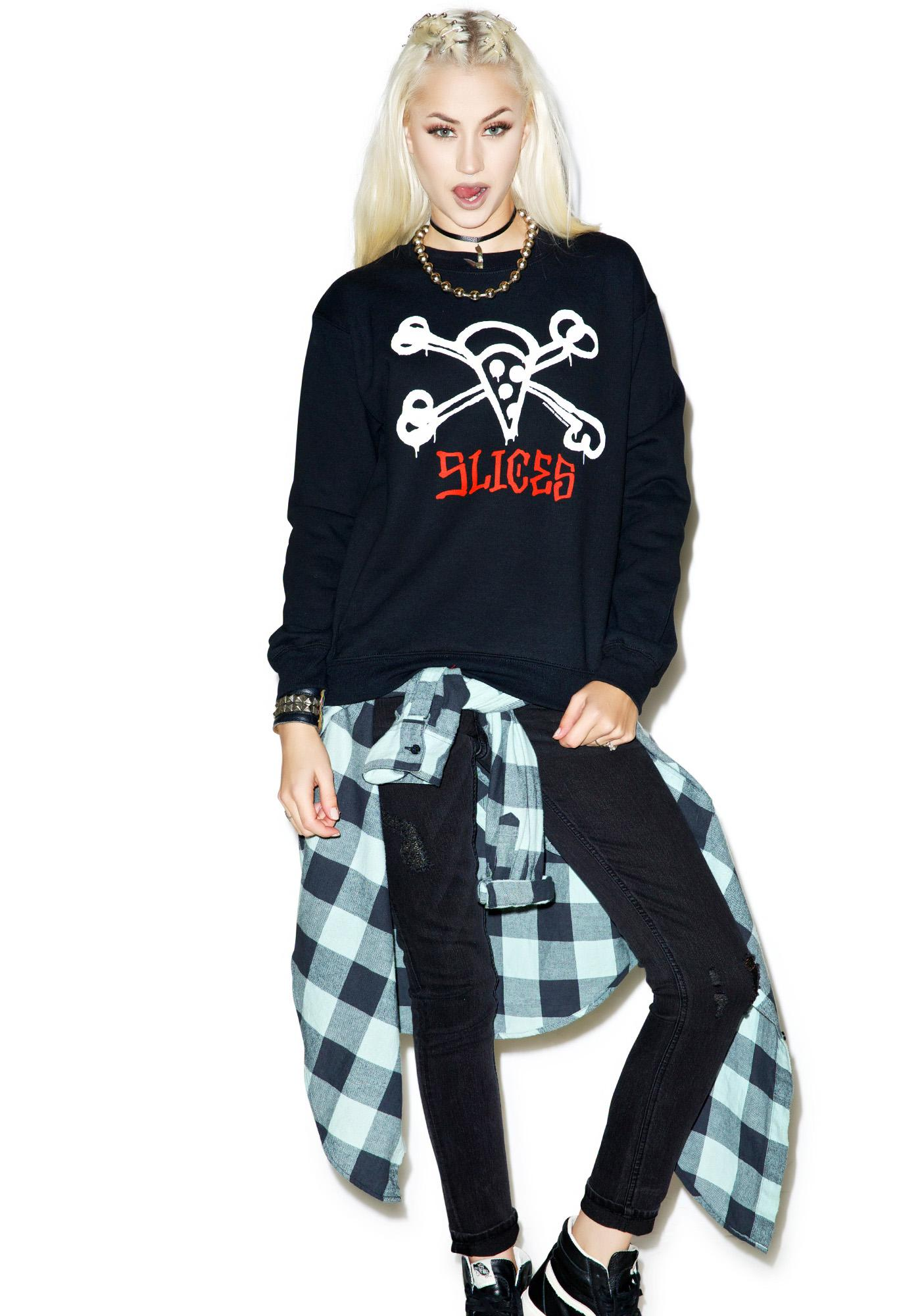 Pizzanista Deadly Slices Sweater