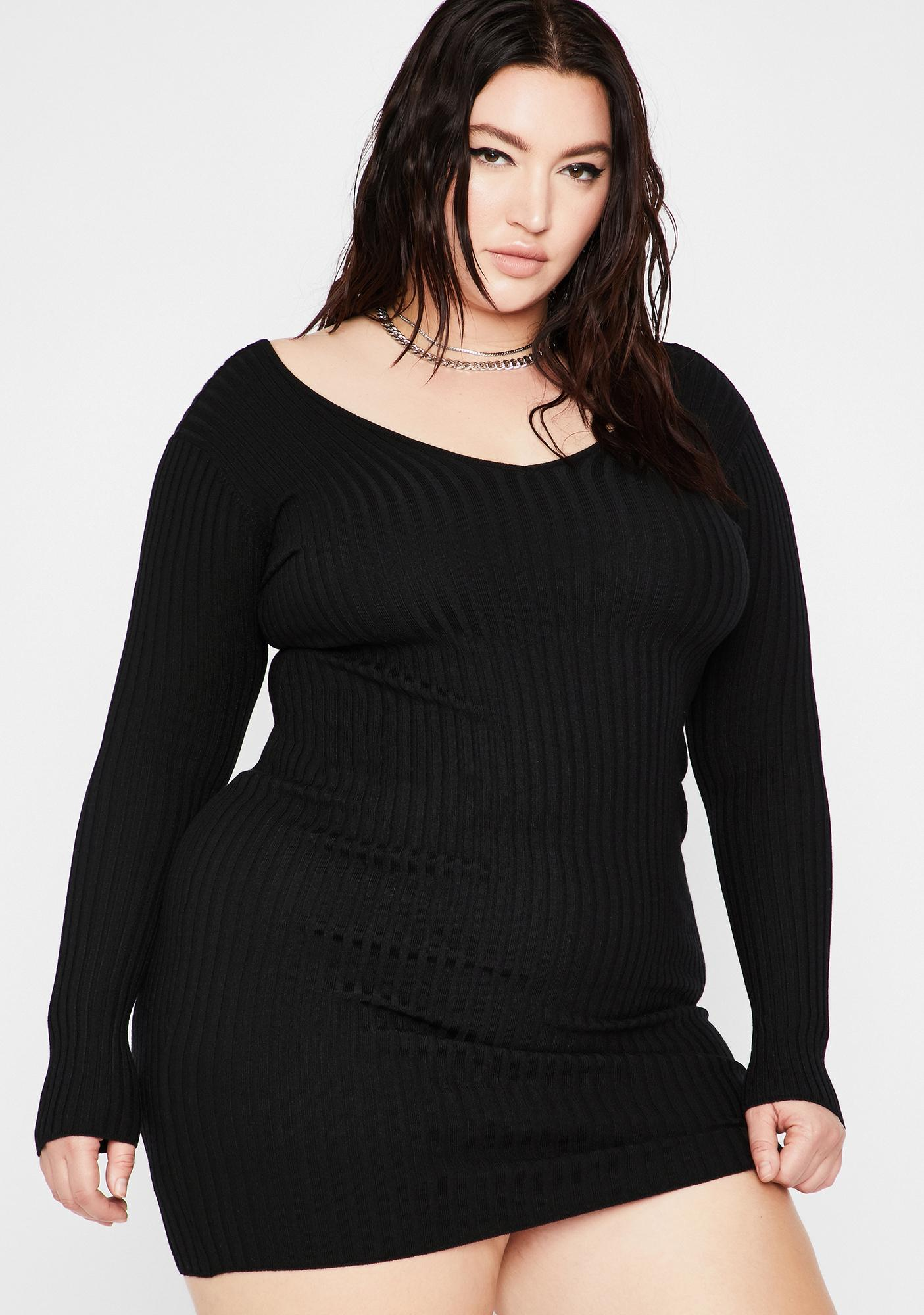 True Baddie Season Sweater Dress