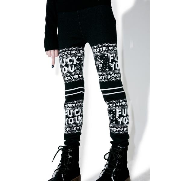 Sourpuss Clothing F You Leggings
