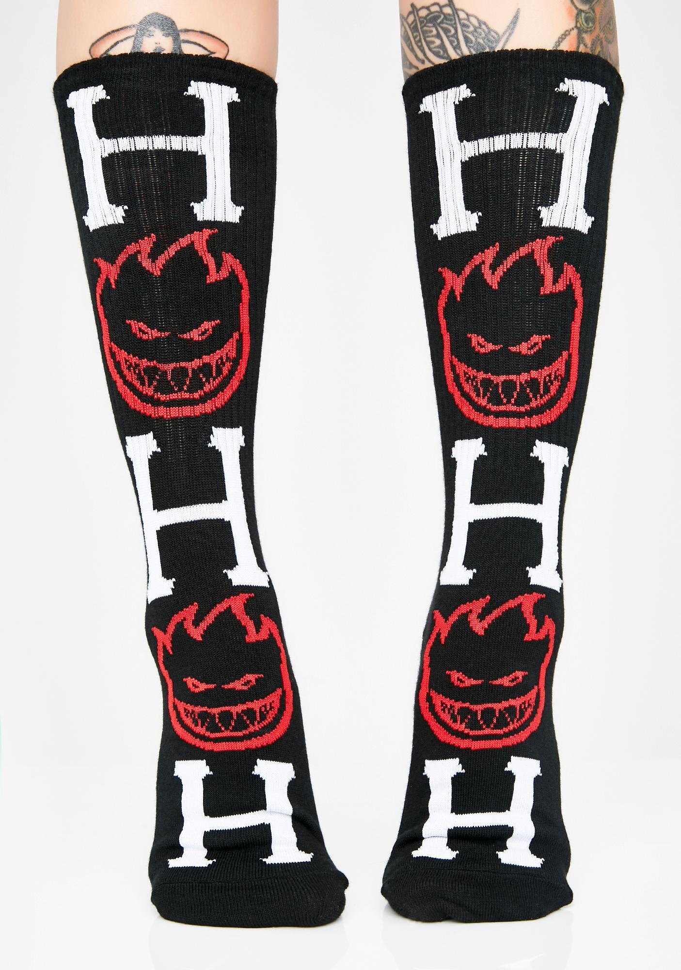 HUF Midnight Spitfire Bighead H Socks
