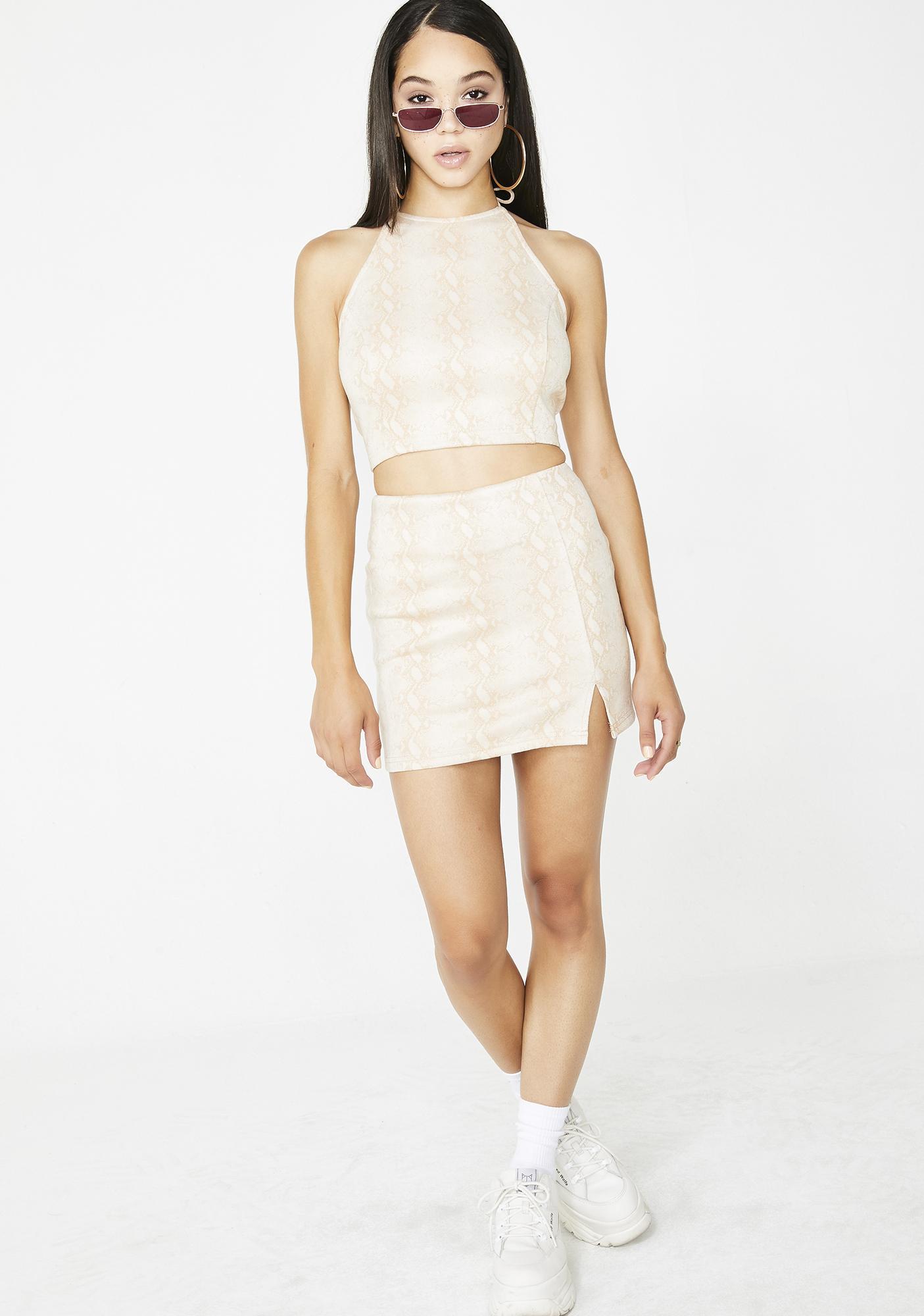 Cold Blooded Snakeskin Skirt