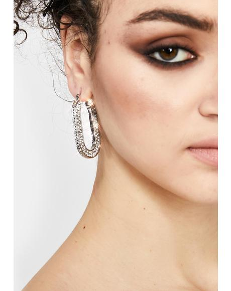 Supermodel Snatch Rhinestone Earrings