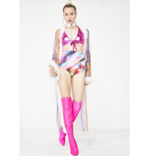 Badinka Liquid Abstract High Waist Shorts