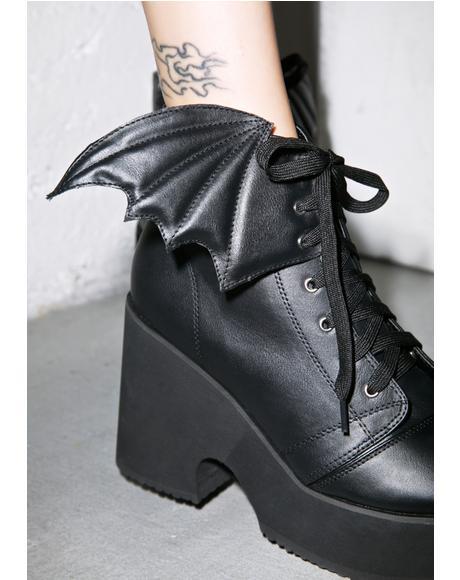 Bat Wing Platform Boots