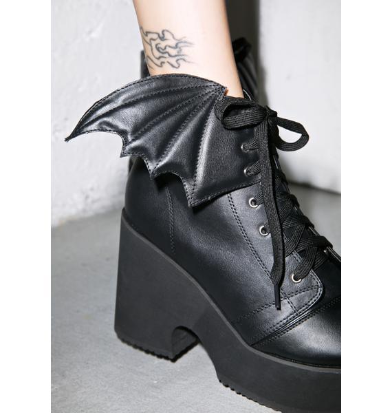 Iron Fist Bat Wing Platform Boots