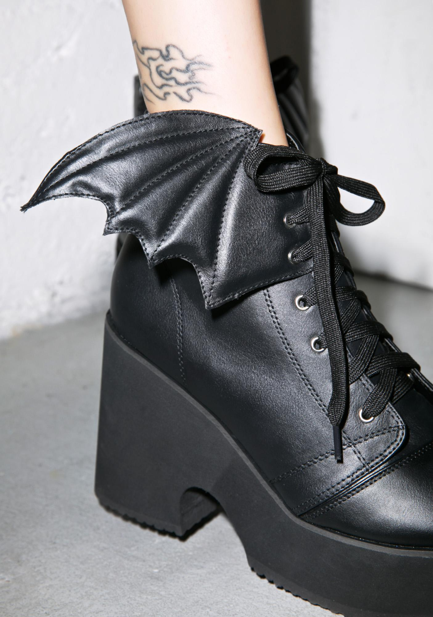 Iron Fist Bat Wing Platform Boots
