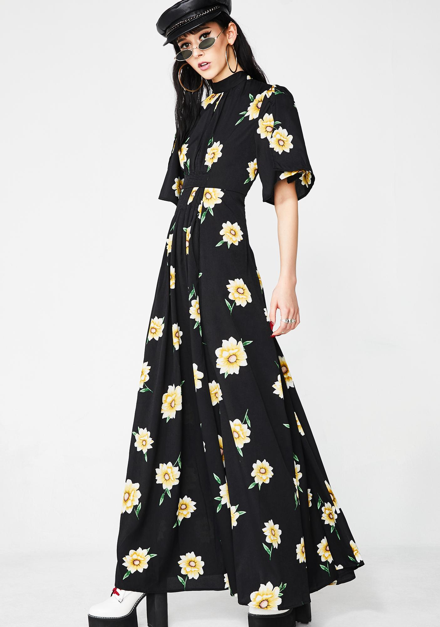 Say What Sunflower Dress