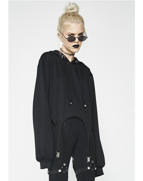 Mental Asylum Suspender Hoodie