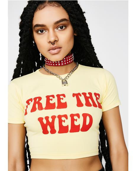 Free The Weed Crop Top