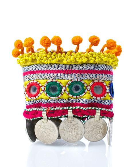 Liana Embroidered Coin Cuffs