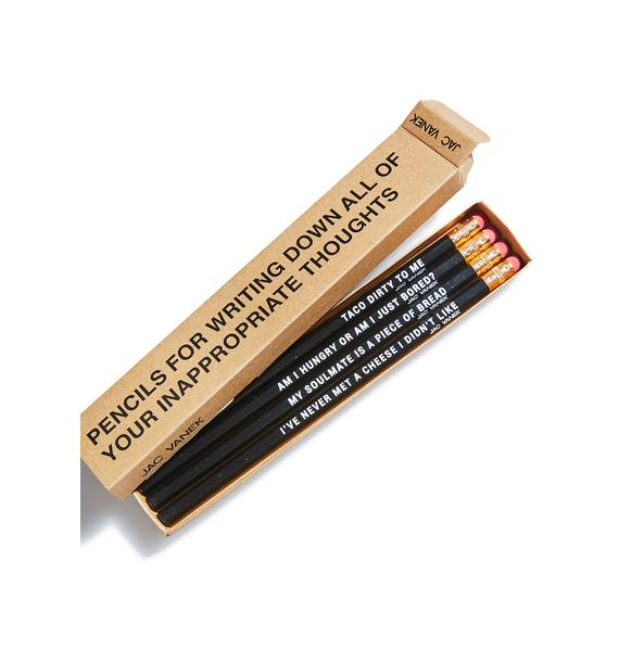 Jac Vanek Your Inner Foodie Pencil Set