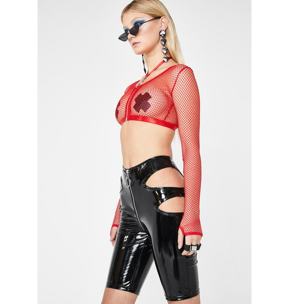 Club Exx Hardstyle Cutout Biker Shorts