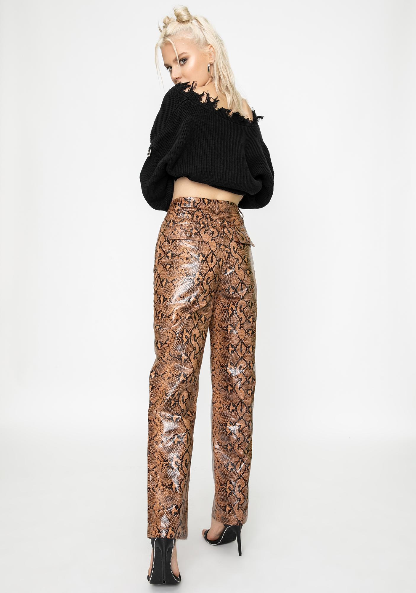 STEELE Slash Snakeskin Pants