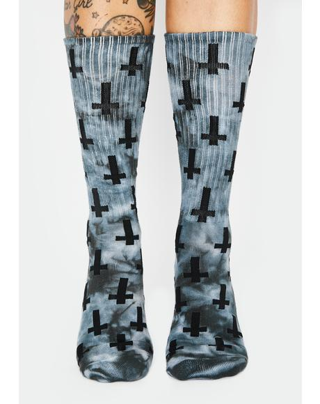 Tie Dye Inversion Crew Socks