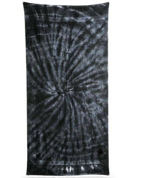 Spider Black Tie Dye Beach Towel