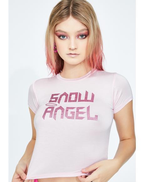 Snowy Angel Crop Tee