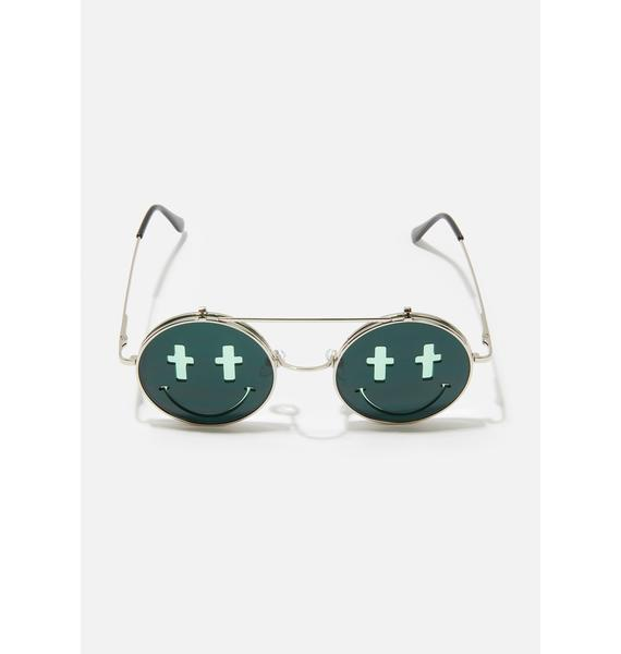 Trippy Sacred Visions Circle Sunglasses