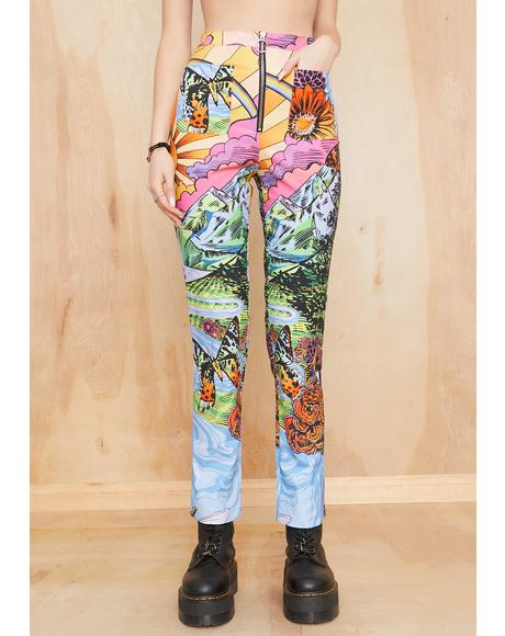 California Dreamin' Printed Pants