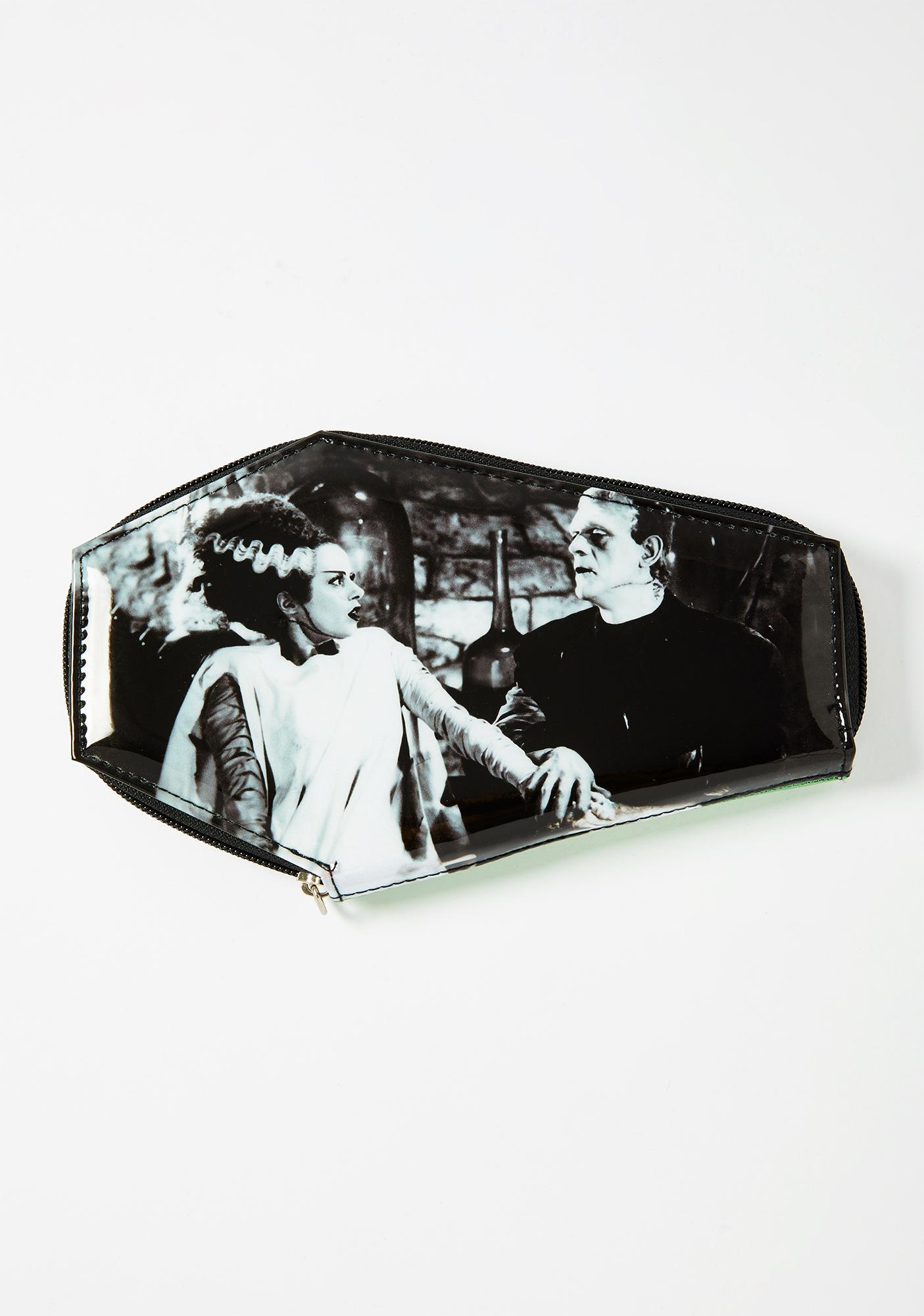 Rock Rebel Together Forever Glitter Coffin Wallet